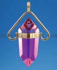 The Archangel Michael Pendant Petite in Ruby Lavender Quartz