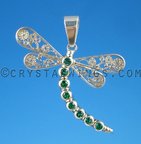 The Dragonfly with Brazilian Emeralds