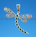 Emerald Dragonfly Pendant